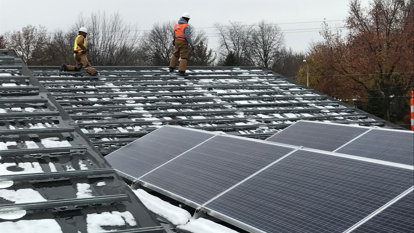 CMT HQ Roof Solar Panels