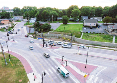 Fifth Street Streetscape Intersection Aerial 3