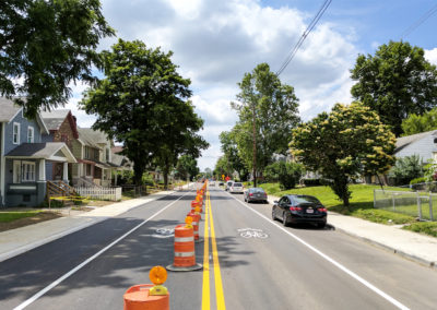 Hague Avenue Completed with Parking and Bike Lanes