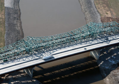 I-270 Chain of Rocks Canal Bridge Replacement Finished Aerial