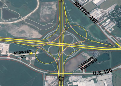 I-57 and I-74 Interchange Reconstruction Map