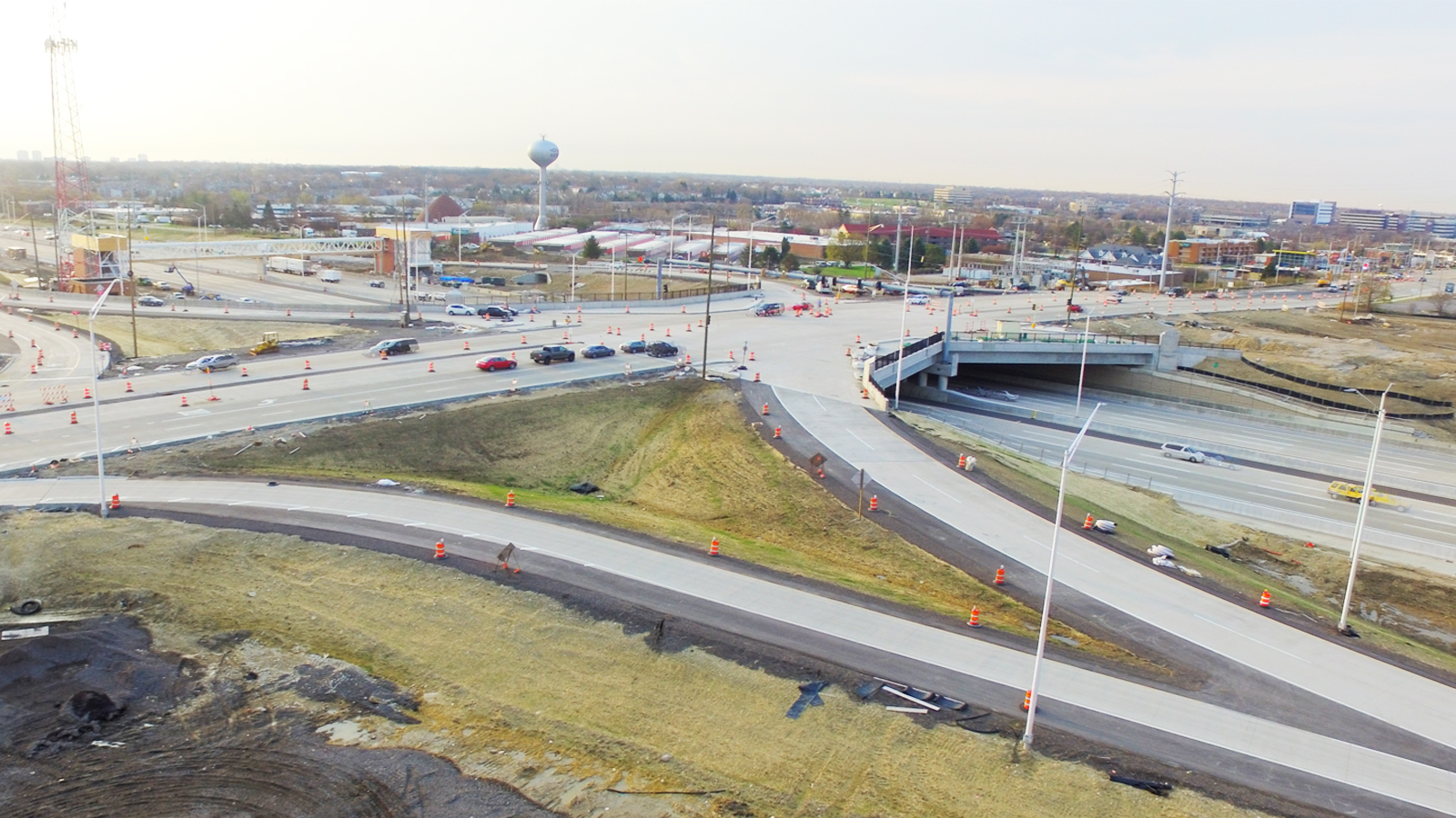I-90 and Barrington Interchange Aerial