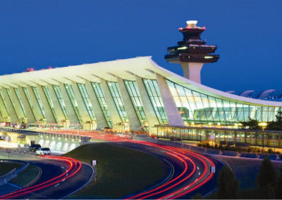 Washington Dulles International Airport Terminal at Dusk