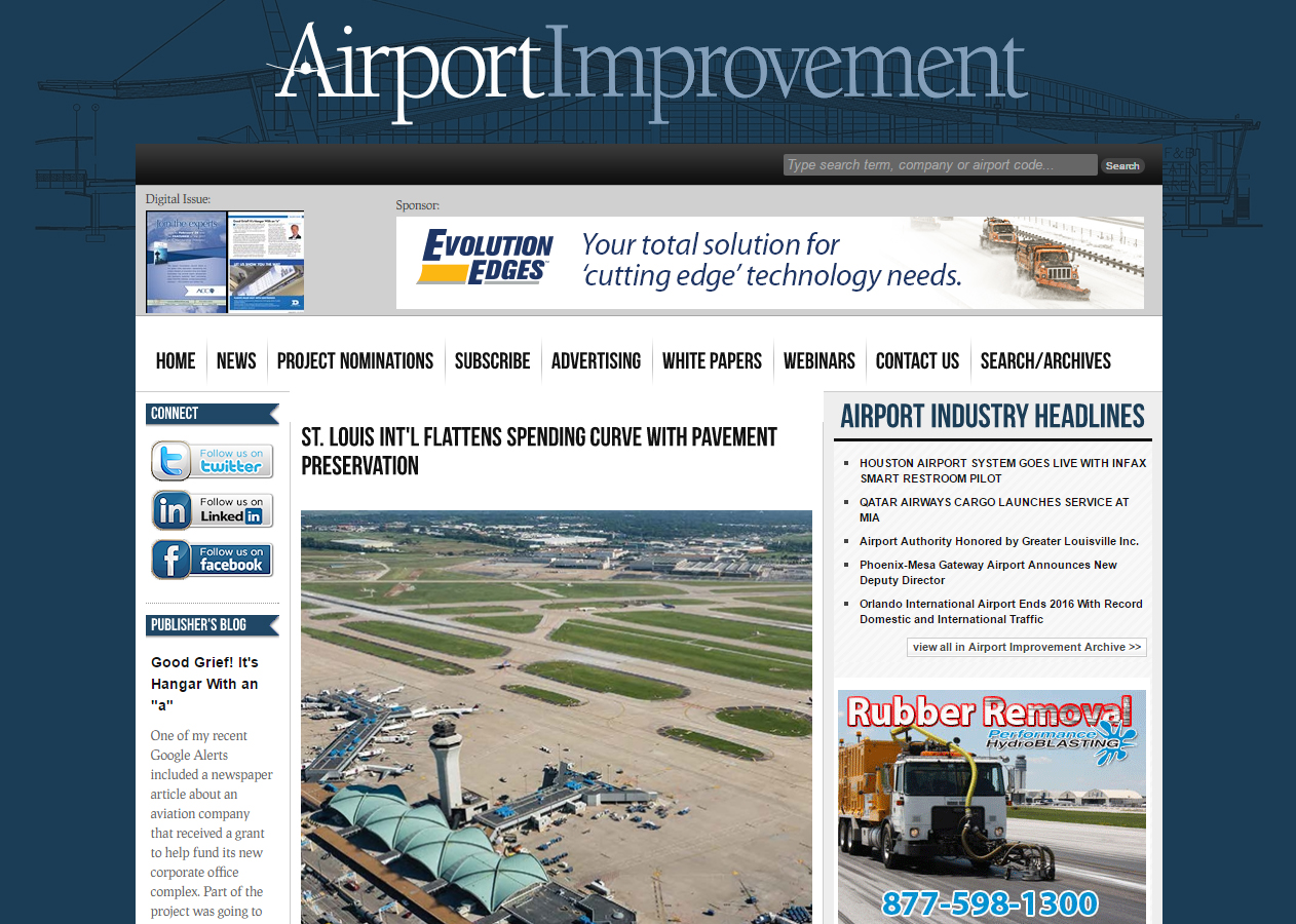 Airport Improvement Lambert Pavement Article