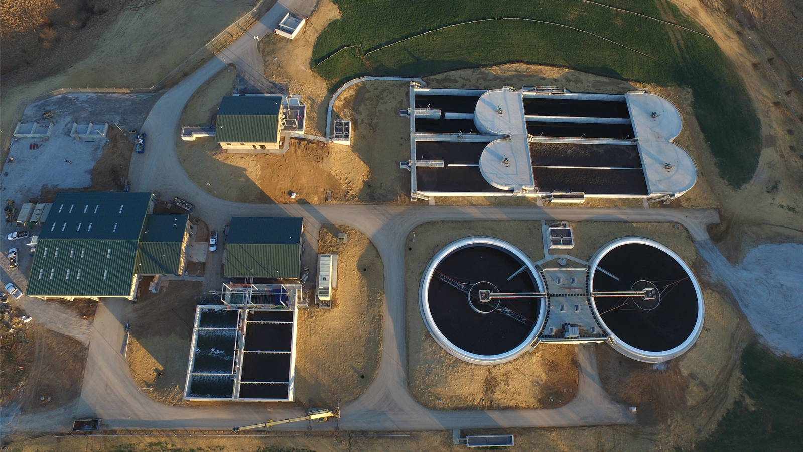 Liberty WWTP Aerial Under Construction 2