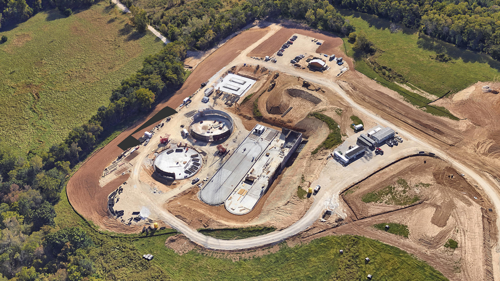 Liberty Wastewater Treatment Facilities Construction Aerial