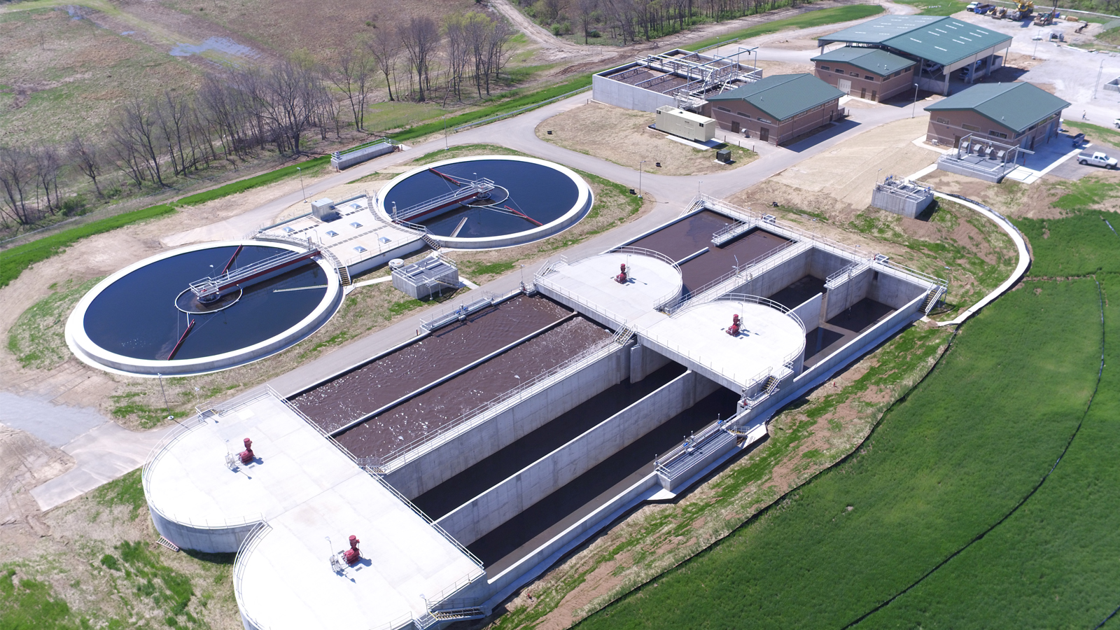 Liberty Wastewater Treatment Plant Aerial Completed