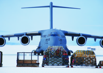 McMurdo Air Force Base with Airplane