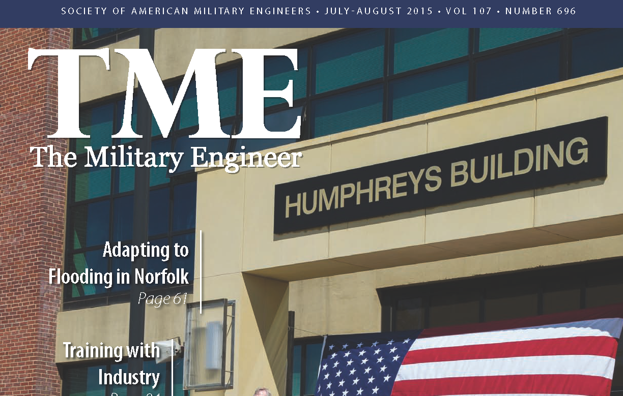 The Military Engineer magazine cover Vol 107 number 696