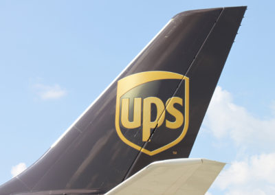 UPS Airplane Tail with Logo