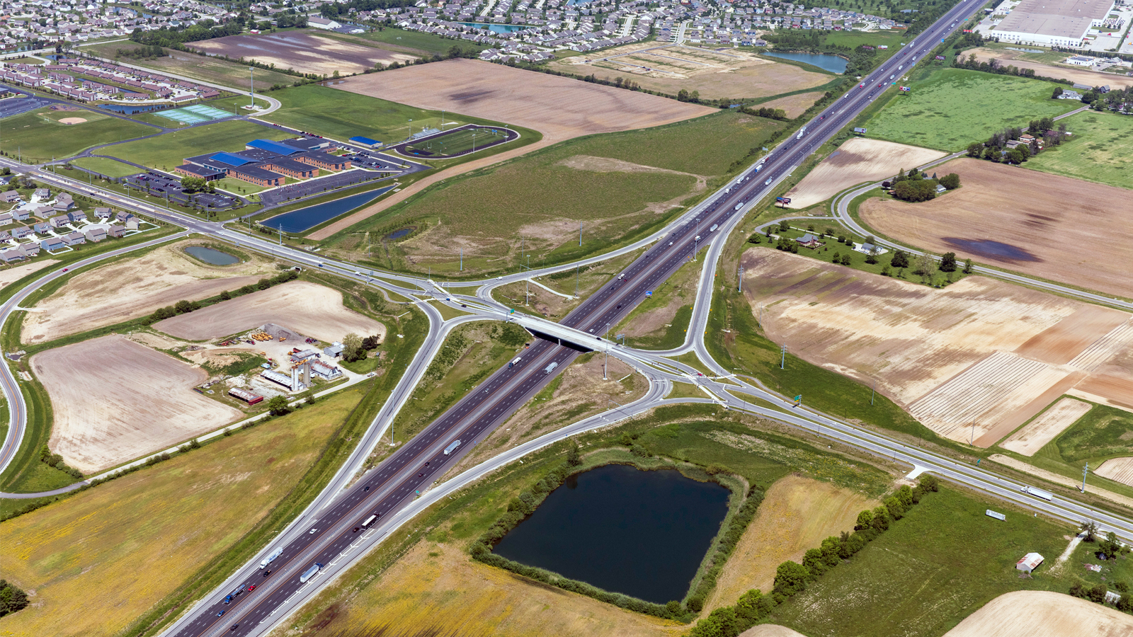 I-65 and Worthsville Road Diverging Diamond Interchange