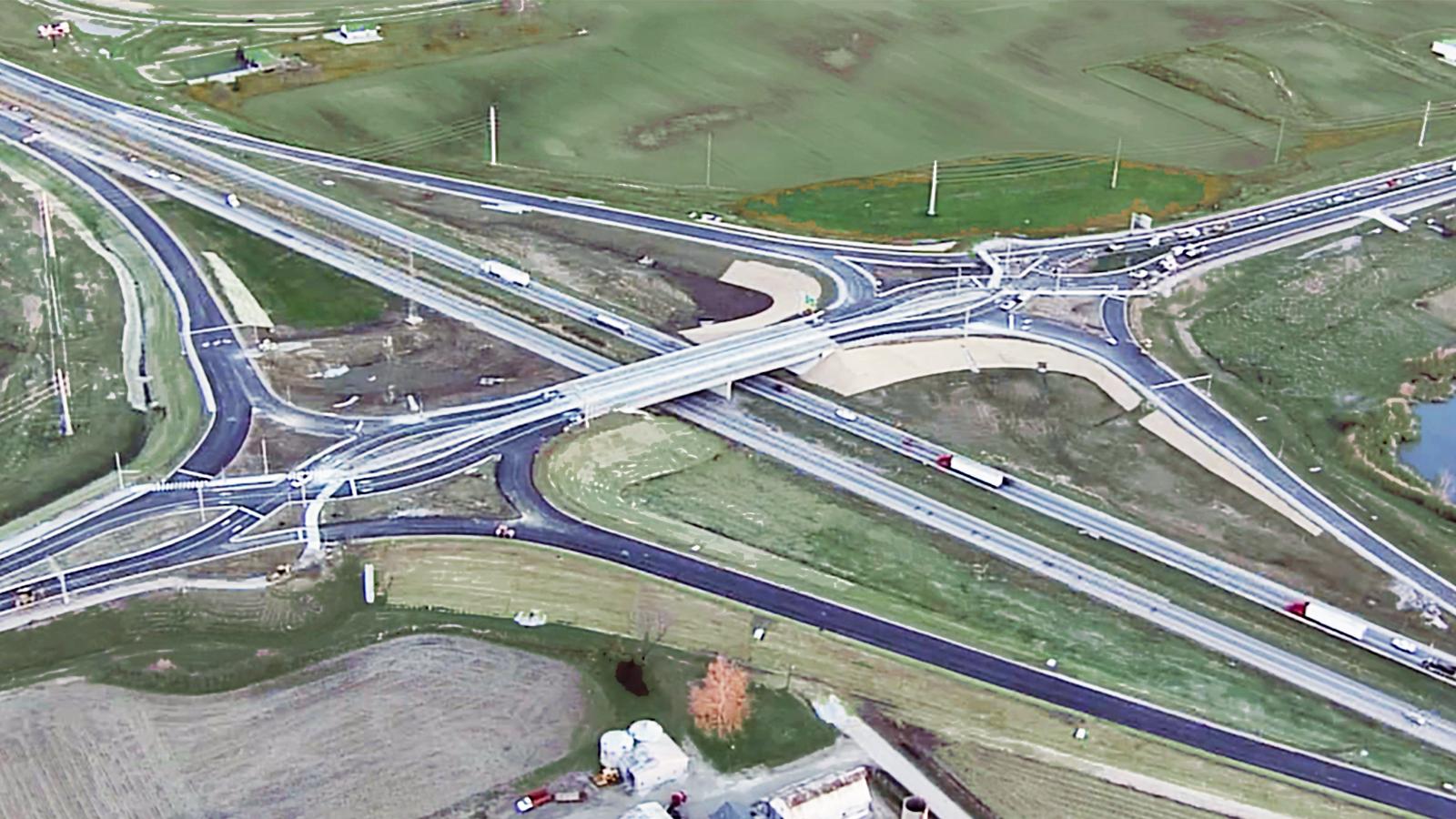 Worthsville Road Interchange Aerial