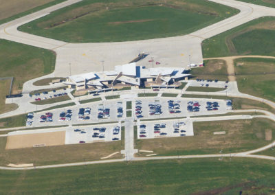Dubuque Airport New Terminal Aerial