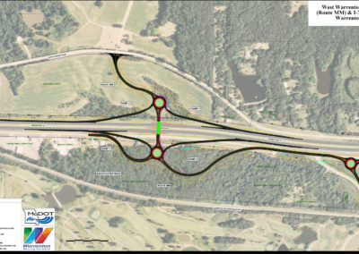 I-70 and Route MM Interchange Aerial Map