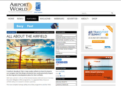 """Airport World"" article, ""All About the Airfield"""