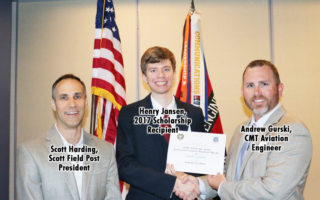 CMT Sponsors Scholarship for Society of American Military Engineers Scott Field Post Student
