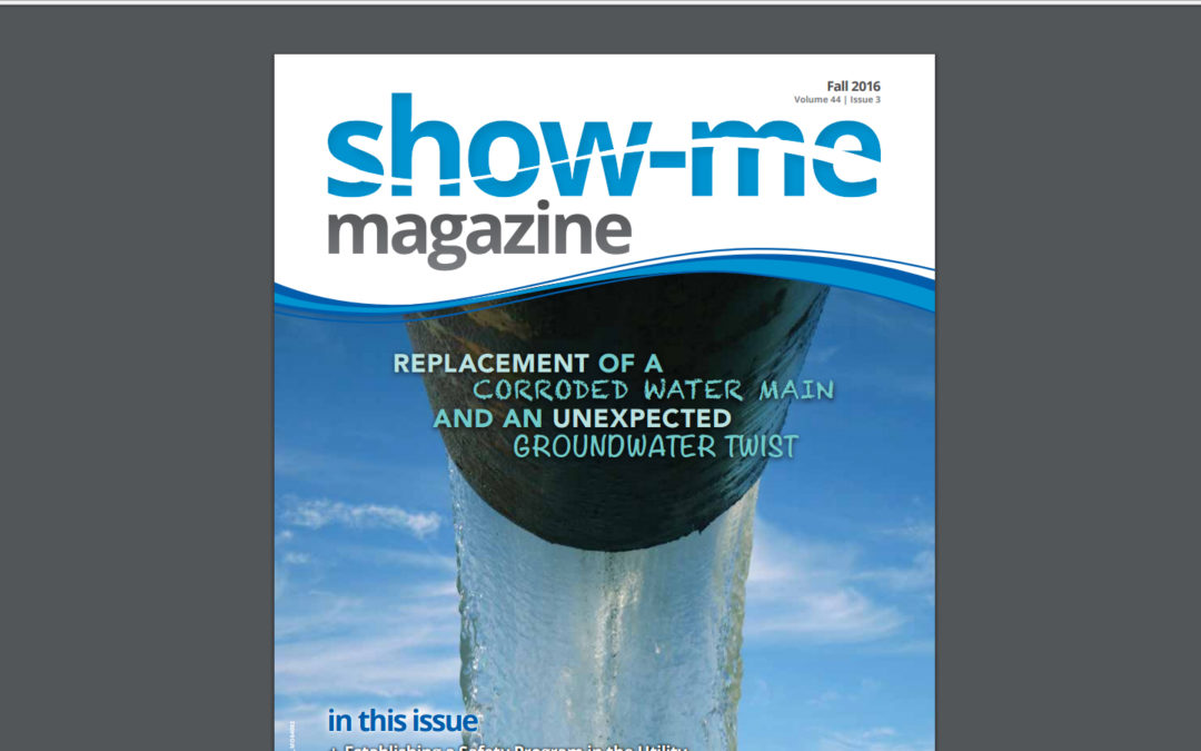 """Show-Me Magazine"" article, ""Replacement of a Corroded Water Main and an Unexpected Groundwater Twist"""