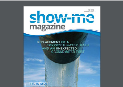 """""""Show-Me Magazine"""" article, """"Replacement of a Corroded Water Main and an Unexpected Groundwater Twist"""""""