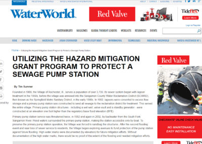 """From """"WaterWorld.com,"""" """"Utilizing the Hazard Mitigation Grant Program to Protect a Sewage Pump Station"""""""
