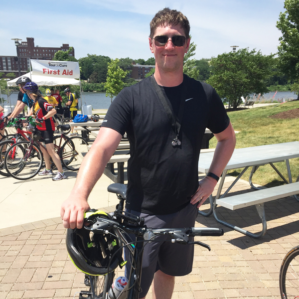 Adam Moulton with Bike for Diabetes
