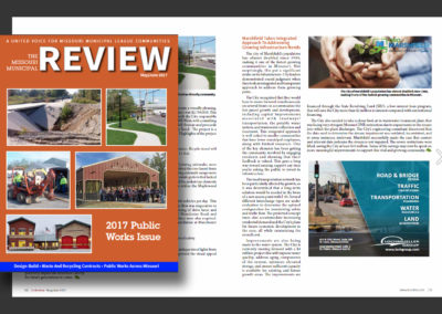 "The Missouri Municipal League's ""Review"" article, ""Marshfield Takes Integrated Approach to Addressing Growing Infrastructure Needs"""