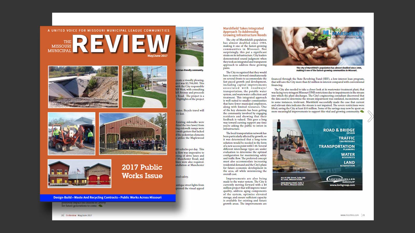 MML Review Magazine - Marshfield Article