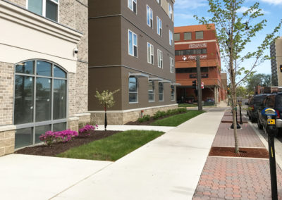 New Student Housing Downtown Streetscape