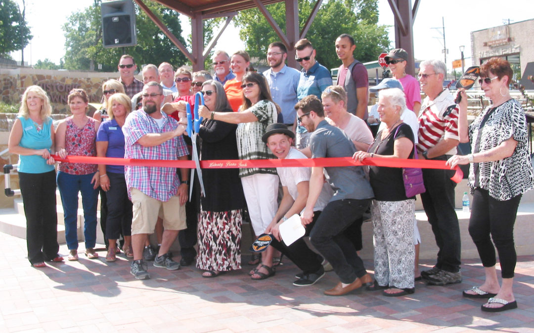 """Ozarks First"" article, ""Liberty Plaza Ready For Visitors In Downtown Branson"""