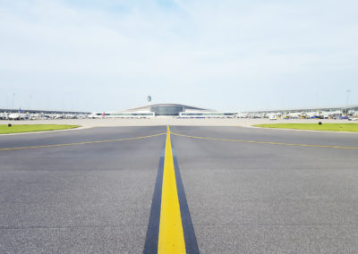 Indianapolis International Airport Taxiway H with Terminal