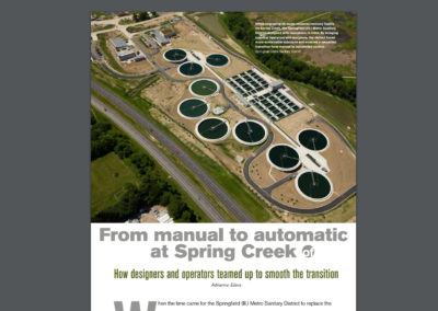 """Water Environment & Technology"" article, ""From manual to automatic at Spring Creek"""