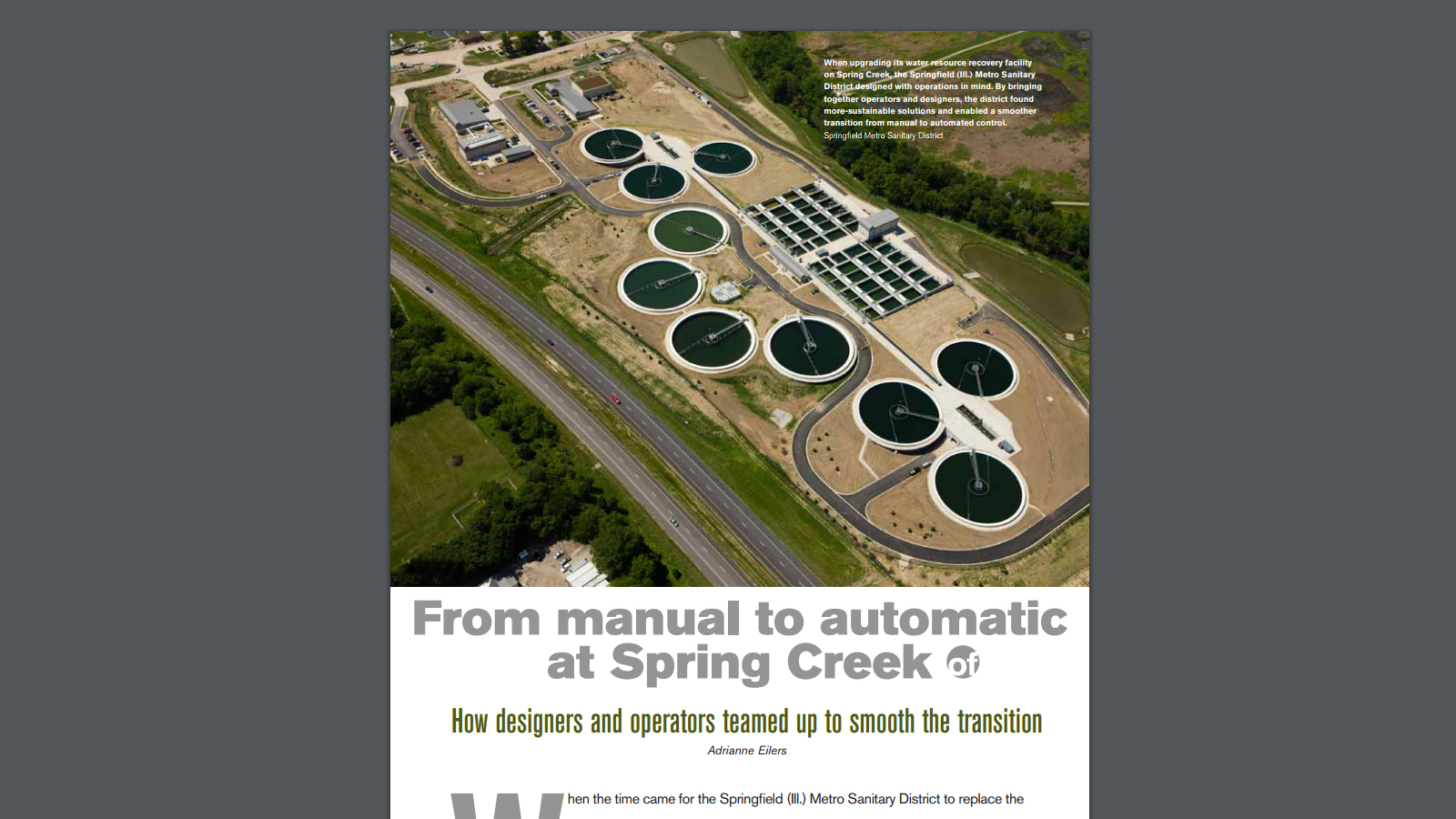 Water Environment & Technology magazine article