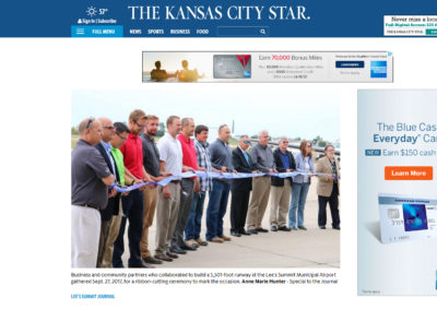 "The ""Kansas City Star"" article, ""Enhanced Lee's Summit Municipal Airport hopes to help local economy take off"""