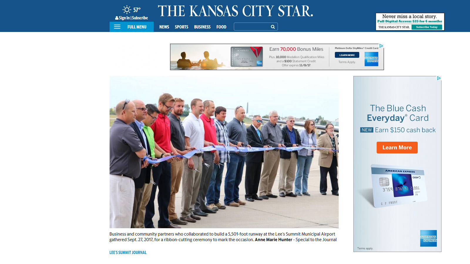Kansas City Star article about Lee's Summit Municipal Airport