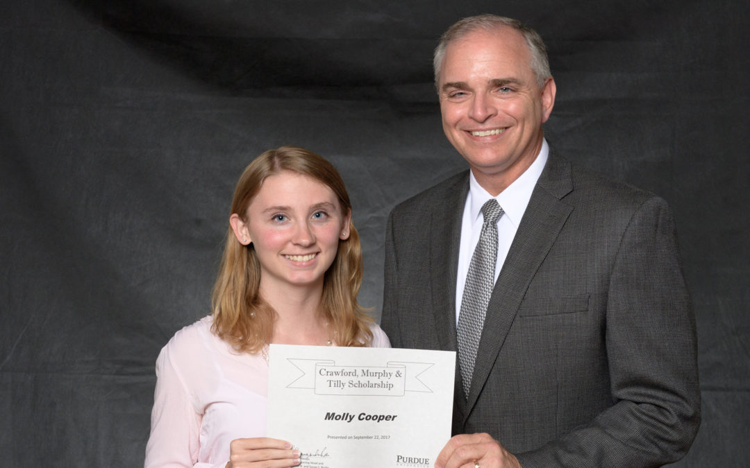 CMT Sponsors Scholarship for Purdue University Lyles School of Civil Engineering Student