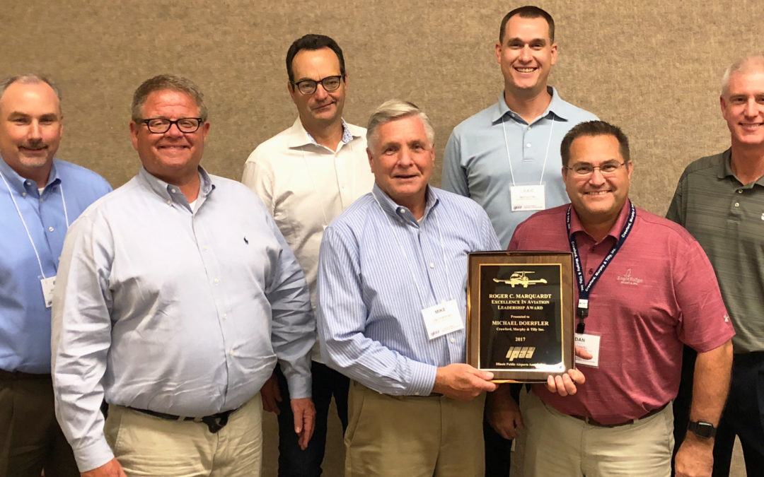 CMT's Mike Doerfler Presented with the Illinois Public Airport Association (IPAA)'s  Roger C. Marquardt Excellence in Aviation Leadership Award