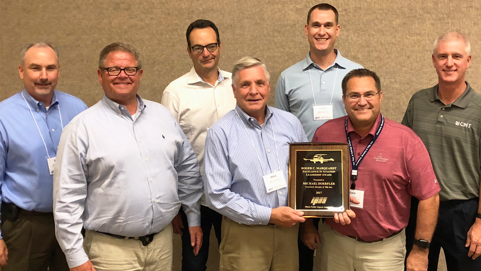 Doerfler with Plaque and CMT group