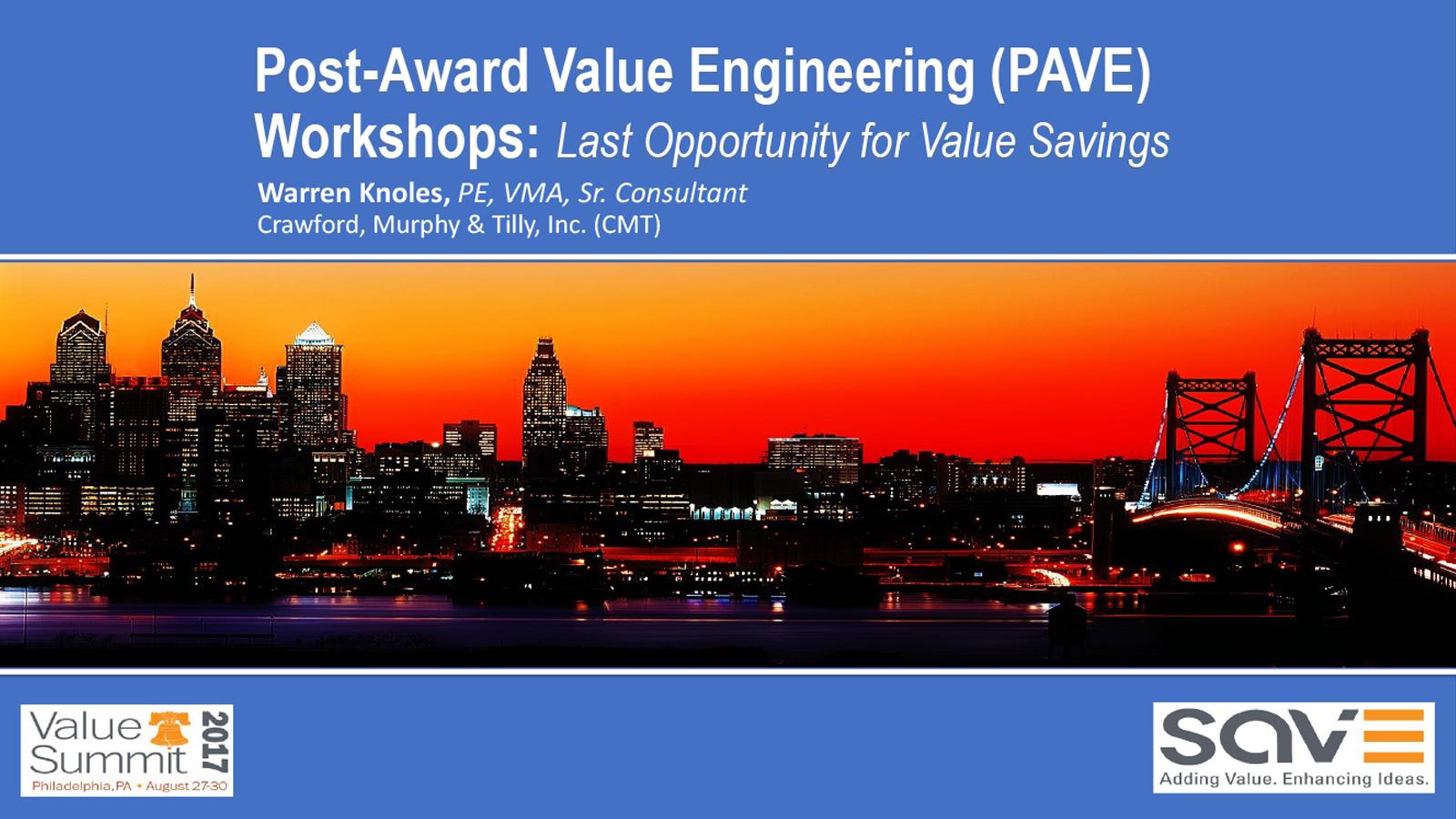 SAVE PAVE Workshop Knoles