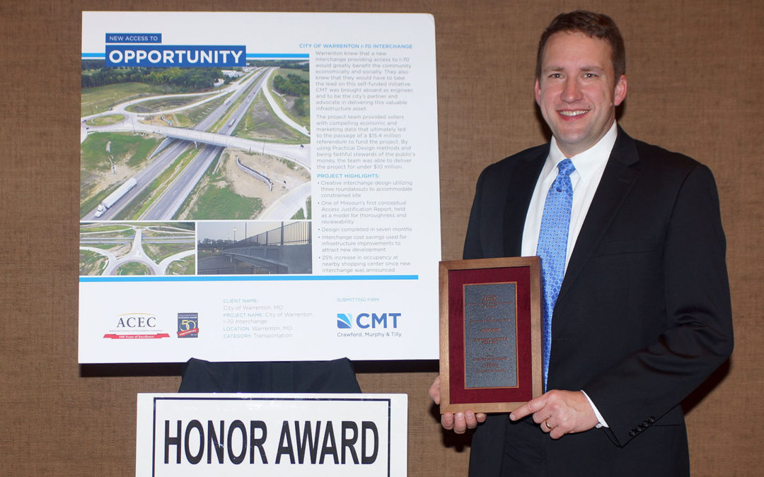 New Warrenton I-70 Interchange Wins Engineering Excellence Award
