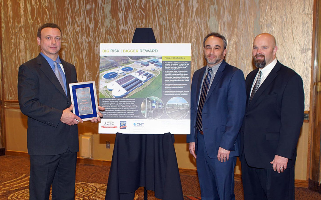 Design-Build Wastewater Treatment Plant Wins ACEC-MO Grand Award