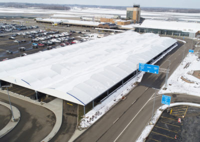 Akron Canton Airport Fabric Covered Parking