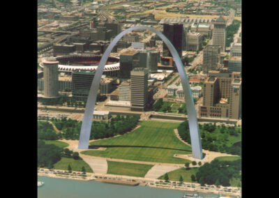 Arch Aerial, St. Louis Office, History Photo