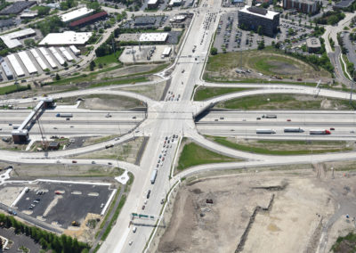 Barrington Road and I-90 Interchange with Pedestrian Bridge Aerial