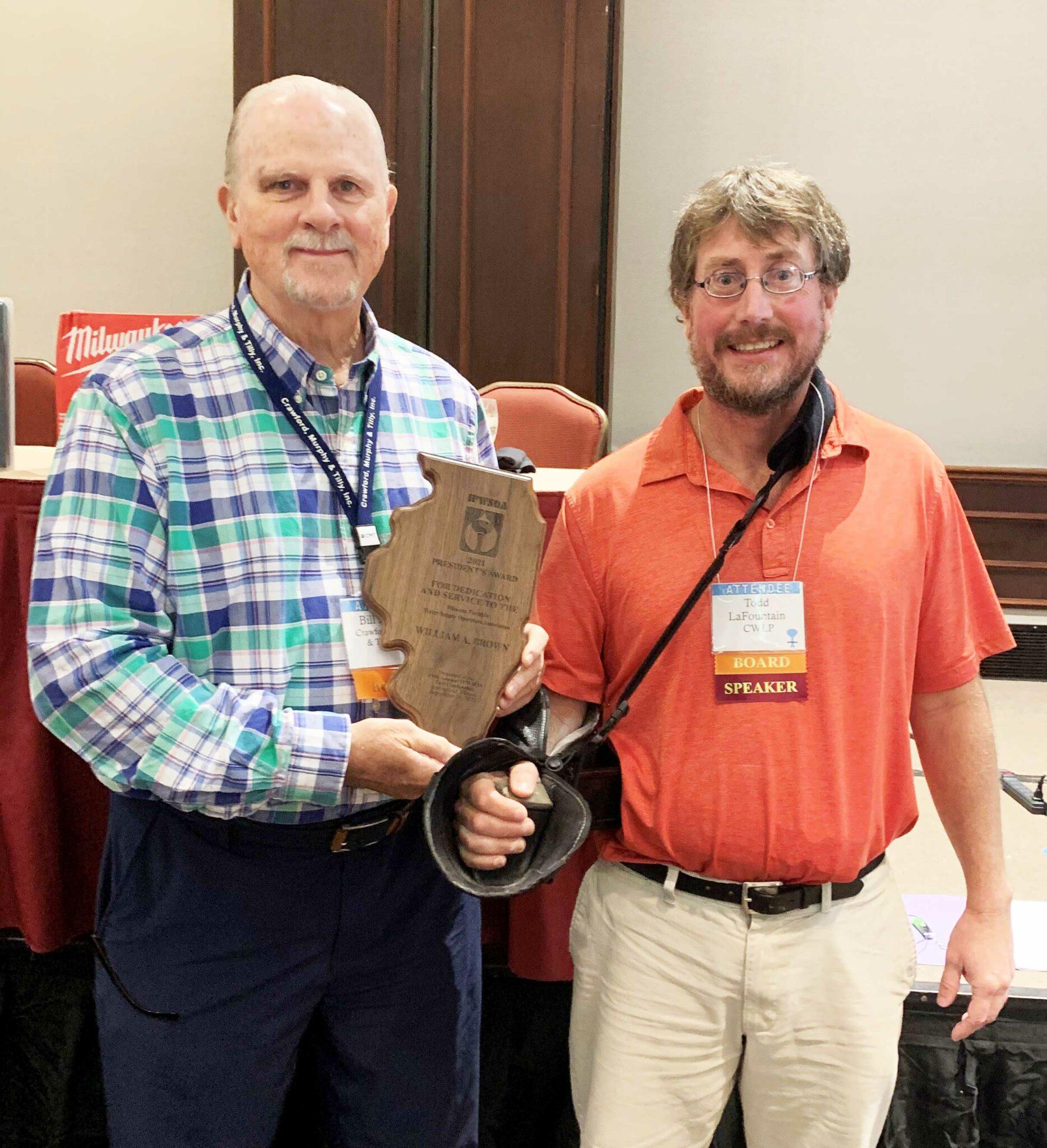 Bill Brown IPWSOA Presidents Award 2021