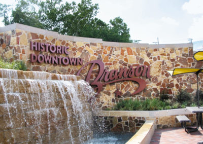Branson, MO Fountain and Sign