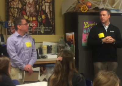 Adam Burns and Chris Martin Presentation at Christ the King Elementary