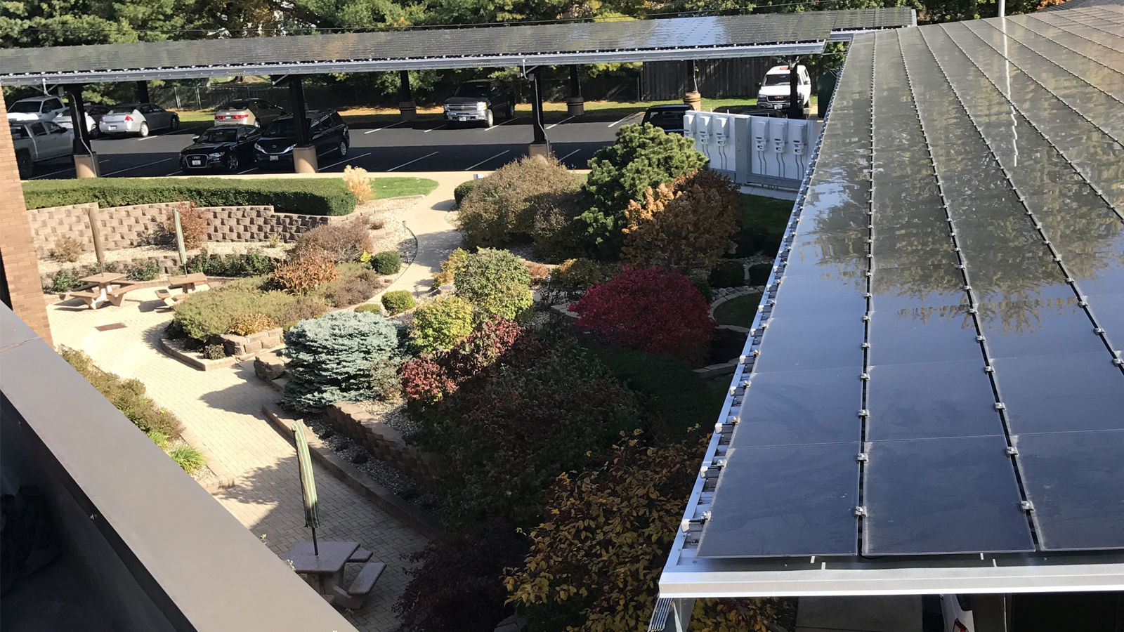 CMT Solar Carport Roof in Fall 2017