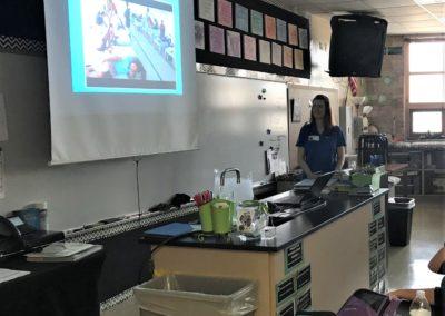 Melanie Reddick Volunteering at Fishers, IN Sand Creek Intermediate School