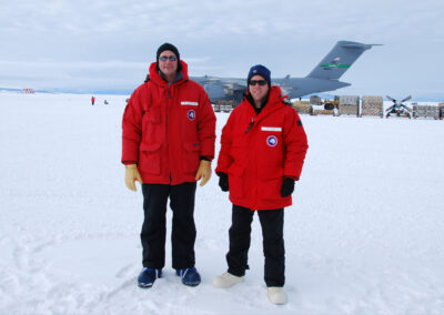Gregory and Thuma in Antarctica