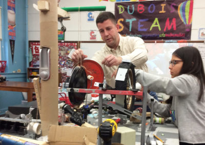 Chris Groth Engineering Mentor for Dubois Rube Goldberg Competition