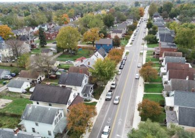 Hague Avenue in Columbus Aerial